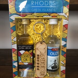 Souvenir set (Olive oil, Ouzo, key ring)