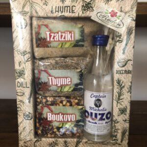 Souvenir set (Tzatziki, Thyme, Boukovo, Ouzo)
