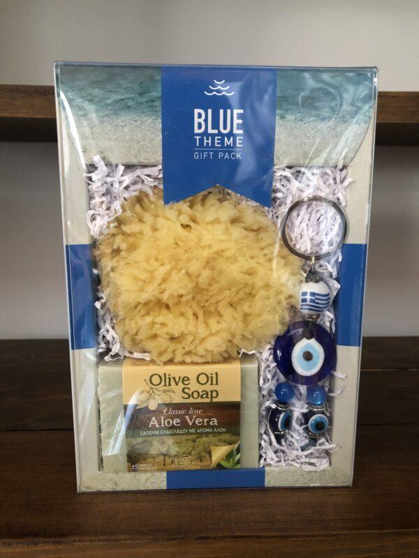 Souvenir set (Sponge, Aloe vera olive oil soap, key ring)